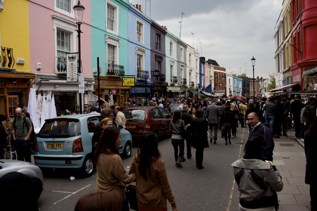 Portobello Market crowds