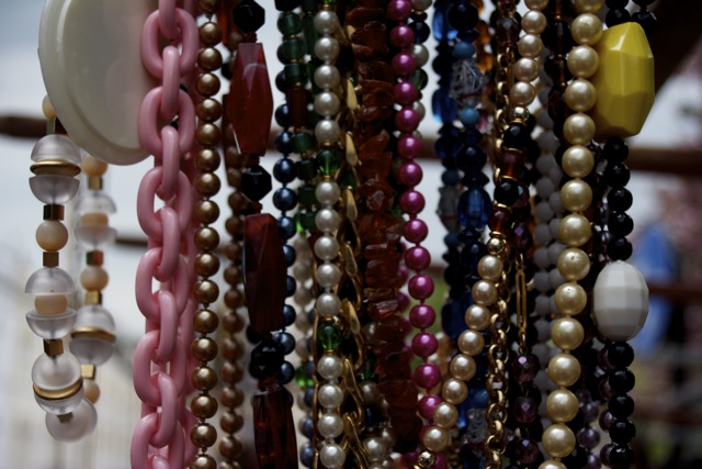 Beaded necklaces in Portobello Market