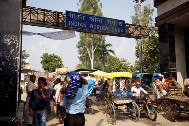 Indian Border Crossing into Nepal