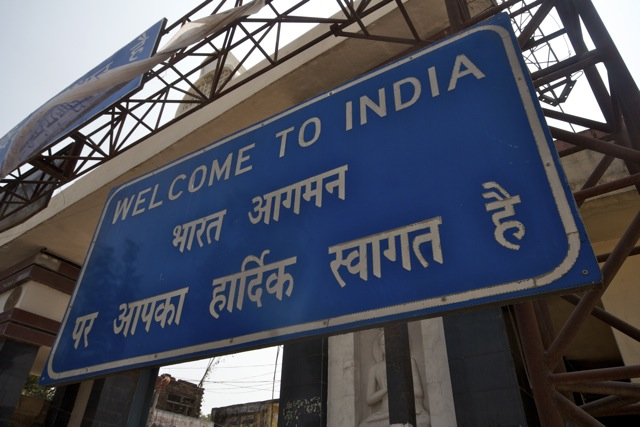 Incredible India - Welcome to India sign