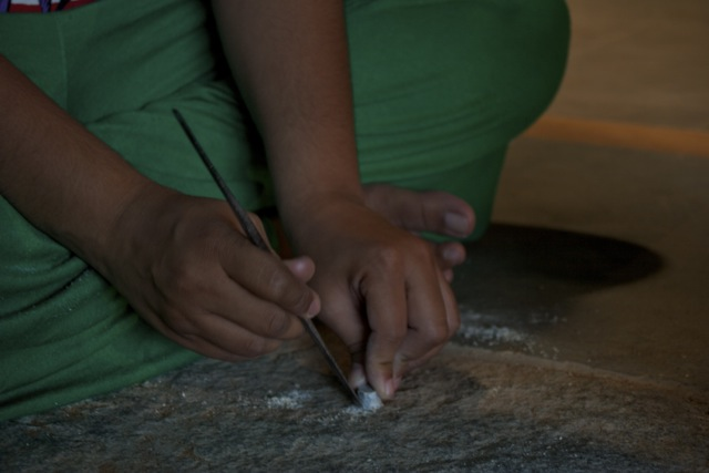Softstone carving workshop at DakshinaChitra