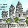 Travel sketch Cambodia