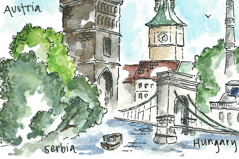 Europe travel sketches