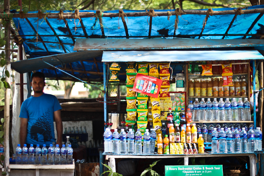 Drinks stall in India